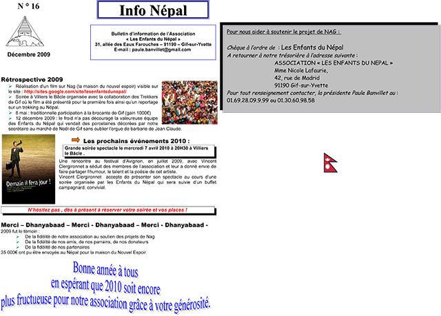 Info NéŽpal N°16