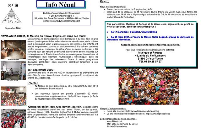 Info NŽépal N°10