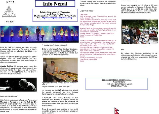 Info NŽépal N°12