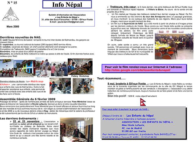 Info NéŽpal N°15